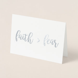 Faith > Fear Foil Card