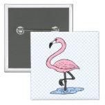 Faith Flamingo Pinback Buttons