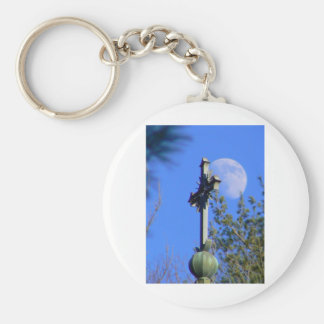 Faith from Above Basic Round Button Key Ring