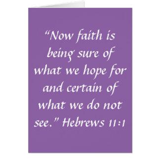 """""""Faith"""" Greeting Card (Blank Inside)"""
