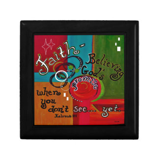 Faith Hebrews 11 Small Square Gift Box