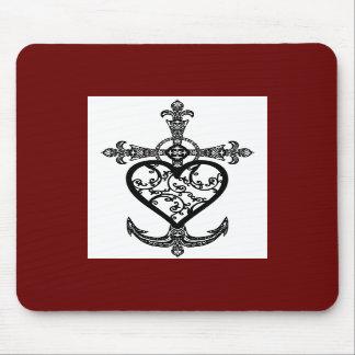 Faith Hope and Charity Filigree Emblem Mousepad