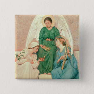 Faith, Hope and Love 15 Cm Square Badge