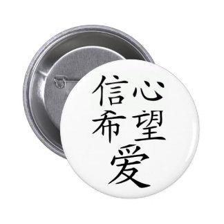 faith, hope, and love 6 cm round badge