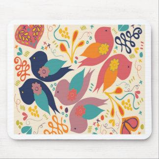 Faith Hope and Love Bird Print Mousepads