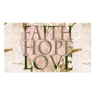 Faith, Hope and Love Business Card Template