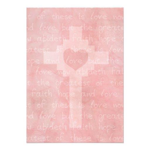 Faith Hope and Love Christian 5 x 7 Wedding Announcements