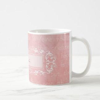 Faith Hope and Love Christian Custom Name Basic White Mug