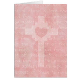 Faith Hope and Love Christian Inspirational Card