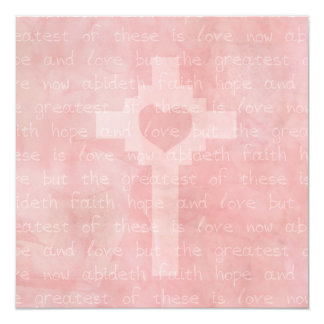 Faith Hope and Love Christian Square Wedding Invite