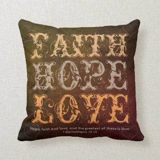 Faith, Hope and Love Cushion