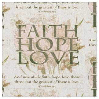 Faith, Hope and Love Fabric