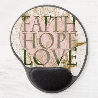 Faith, Hope and Love Gel Mouse Mat
