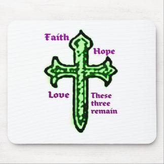 FAITH, HOPE AND LOVE ... GREEN CROSS MOUSE PAD