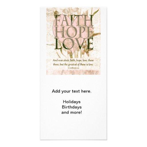 Faith, Hope and Love Photo Greeting Card