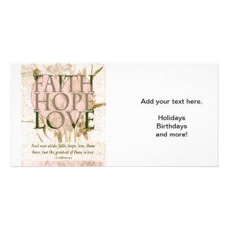 Faith, Hope and Love Photo Card