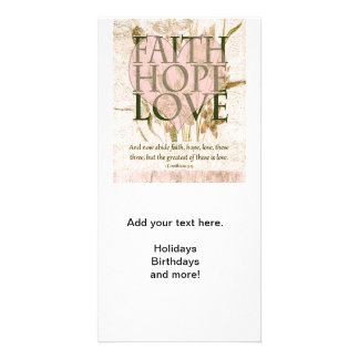 Faith, Hope and Love Picture Card