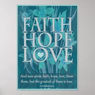 Faith, Hope and Love Print