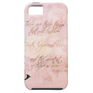 Faith Hope and Love Roses iPhone 5 Case