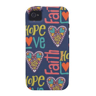 Faith Hope and Love Word Art Case-Mate iPhone 4 Case