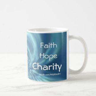Faith Hope Charity Basic White Mug