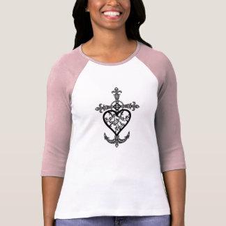 Faith Hope & Charity Filigree Emblem Raglan Shirt