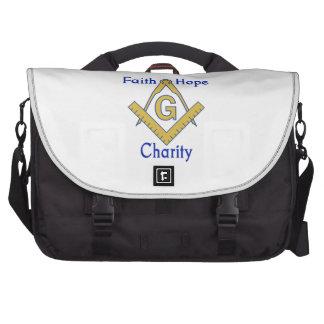 FAITH HOPE CHARITY LAPTOP SHOULDER BAG