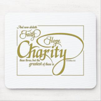 Faith Hope Charity Mouse Pad