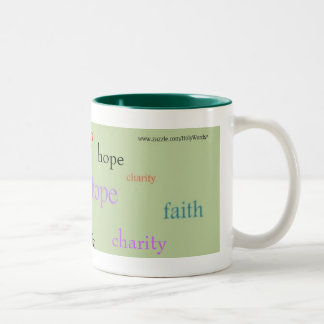 Faith Hope Charity Two-Tone Mug