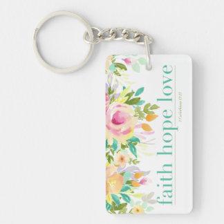 Faith Hope Love | 1 Cor. 13:13 Rectangle Keychain