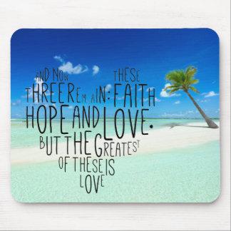 Faith Hope Love 1 Corinthians 13:13 Mouse Pad