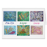 Faith Hope Love Angel Word Greeting or Note Cards
