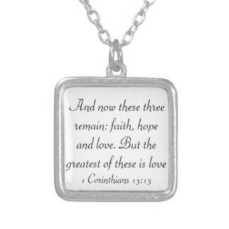 faith hope love bible verse 1 corinthians necklace