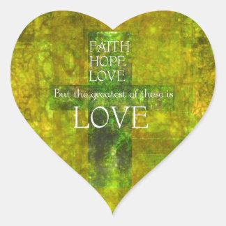 Faith Hope Love Bible Verse Heart Sticker