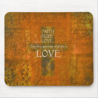 Faith Hope Love Bible Verse Mouse Mat