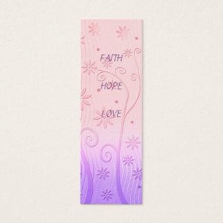 Faith Hope Love - Bookmark Mini Business Card