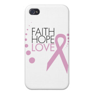 Faith, Hope, Love - Breast Cancer Support iPhone 4/4S Covers