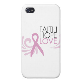 Faith Hope Love - Breast Cancer Support iPhone 4 Case