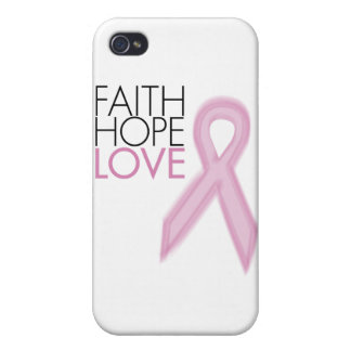 Faith Hope Love - Breast Cancer Support iPhone 4/4S Cover
