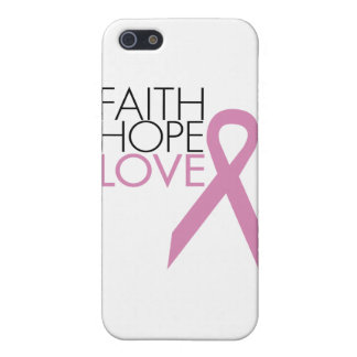 Faith, Hope, Love - Breast Cancer Support Covers For iPhone 5