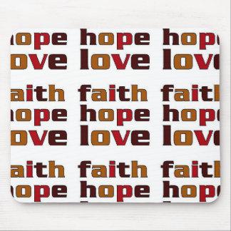 Faith Hope Love Browns Mouse Pad