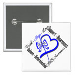 Faith Hope Love Butterfly - ALS Awareness 15 Cm Square Badge