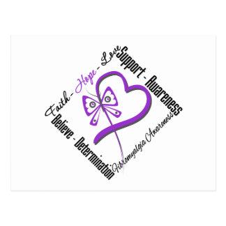 Faith Hope Love Butterfly - Fibromyalgia Awareness Postcard