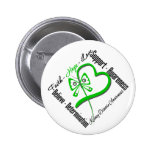 Faith Hope Love Butterfly - Kidney Disease 6 Cm Round Badge