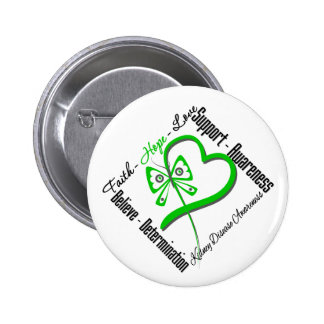 Faith Hope Love Butterfly - Kidney Disease 6 Cm Round Badge