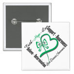 Faith Hope Love Butterfly - Liver Disease 15 Cm Square Badge