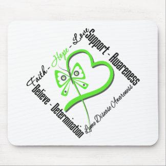 Faith Hope Love Butterfly - Lyme Disease Mouse Pad