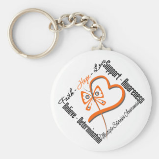 Faith Hope Love Butterfly - Multiple Sclerosis Key Chains
