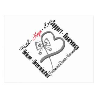 Faith Hope Love Butterfly - Parkinsons Disease Postcard