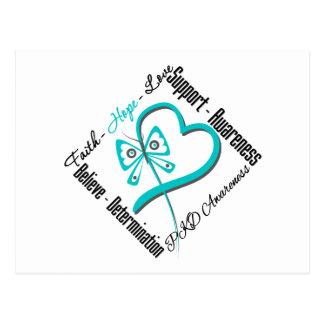 Faith Hope Love Butterfly - PKD Awareness Postcards